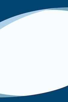 Eenvoudige blauwe gebogen achtergrondvector voor zaken