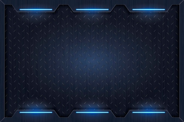 Eenvoudige blauwe technologie achtergrondsjabloon