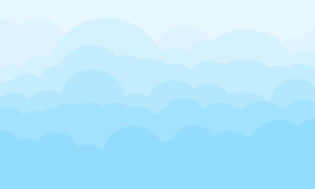 Eenvoudige blauwe wolkenachtergrond. vector illustratie.