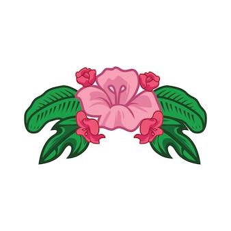 Eenvoudige bloem vector