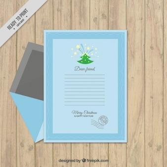 Eenvoudige brief sjabloon voor de kerstman
