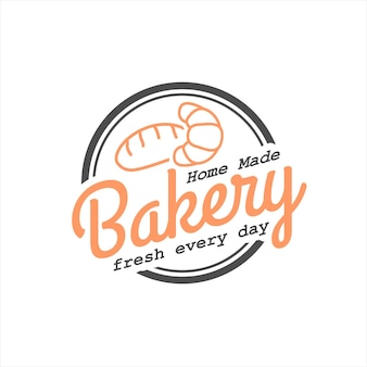 Eenvoudige cirkel zelfgemaakte bakkerij badge stempel