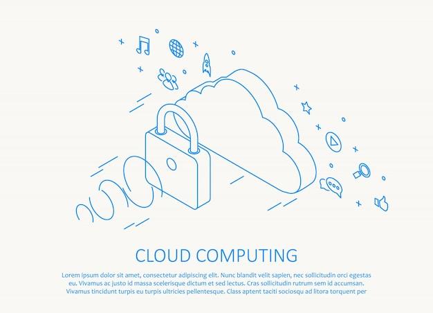 Eenvoudige cloud computing achtergrond