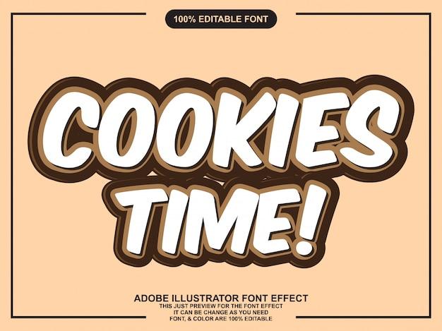 Eenvoudige cookies lettertype effect