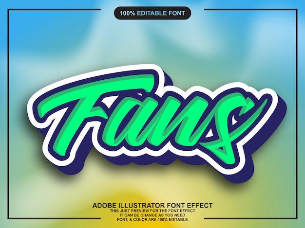 Eenvoudige coole sticker met schaduwlettertype-effect