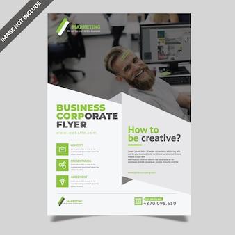 Eenvoudige corporate flyer-sjabloon