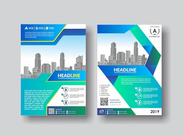Eenvoudige cover lay-out brochure catalogus flyer voor achtergrond