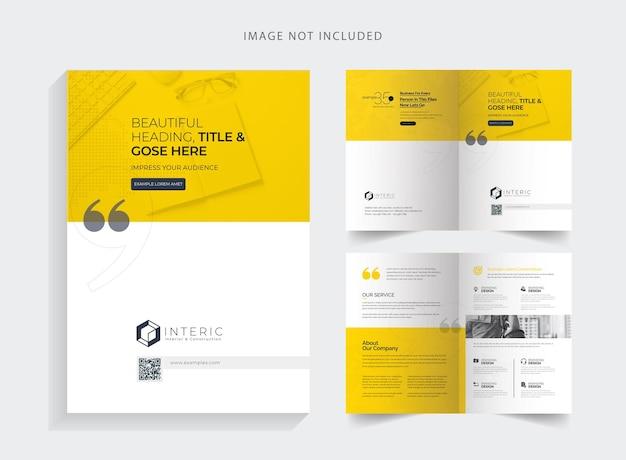 Eenvoudige creatieve tweevoudige brochure