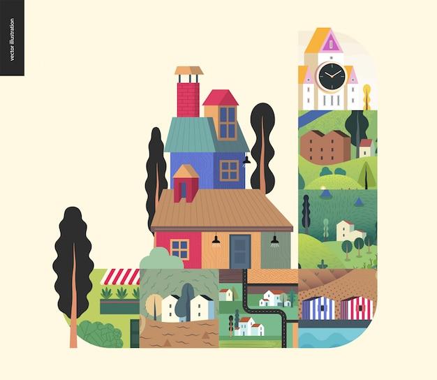 Eenvoudige dingen - huizen samenstelling