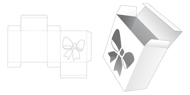 Eenvoudige doos met gestanst sjabloon in de vorm van een raam