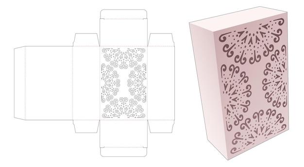 Eenvoudige doos met gestencilde mandala gestanste sjabloon