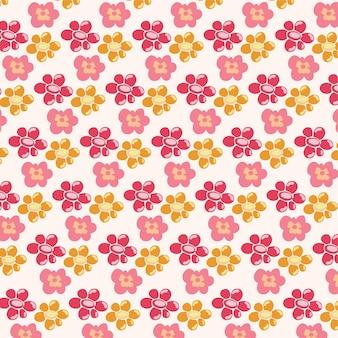 Eenvoudige enkele bloem bloemen naadloze patroon achtergrond boom blouson bloemen