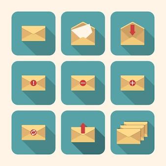 Eenvoudige enveloppen set