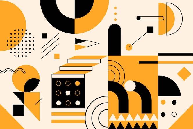 Eenvoudige geometrische elementen in plat ontwerp