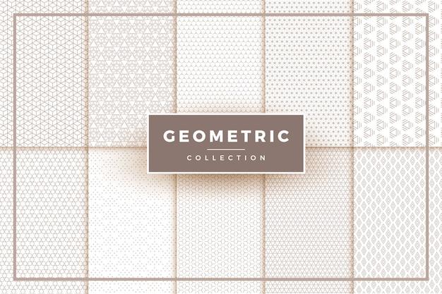 Eenvoudige geometrische patronen collectie