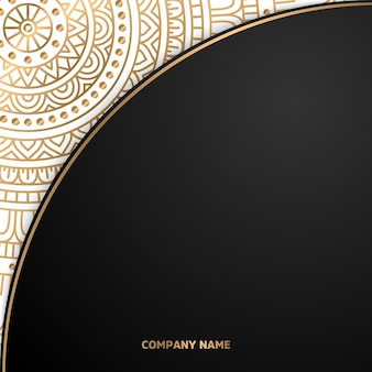 Eenvoudige geometrische sieraad sjabloon mandala achtergrond