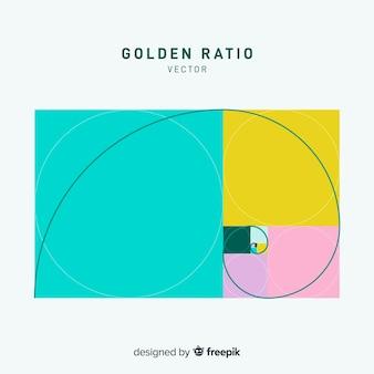Eenvoudige gouden verhoudingsachtergrond