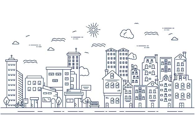 Eenvoudige illustratie van stadslijnontwerp