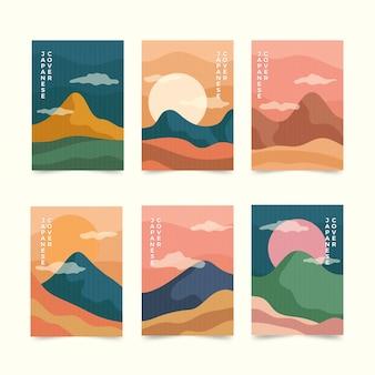 Eenvoudige japanse covercollectie
