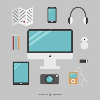 Eenvoudige kantoor objecten collectie