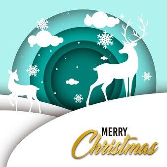 Eenvoudige kerst illustratie