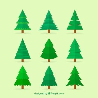 Eenvoudige kerstboomcollectie