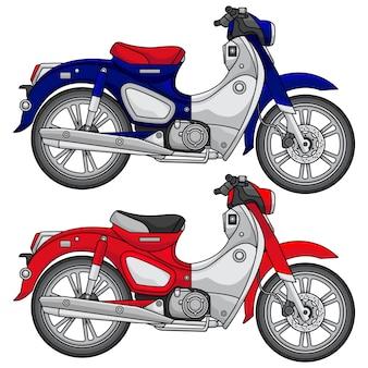 Eenvoudige klassieke motorfiets