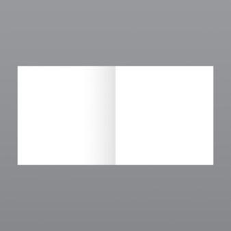 Eenvoudige kleine tijdschrift, mockup met grijze achtergrond
