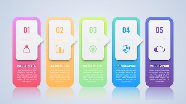 Eenvoudige kleurrijke infographic-sjabloon