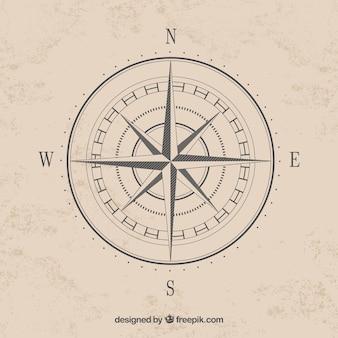 Eenvoudige kompas kardinale punten vector