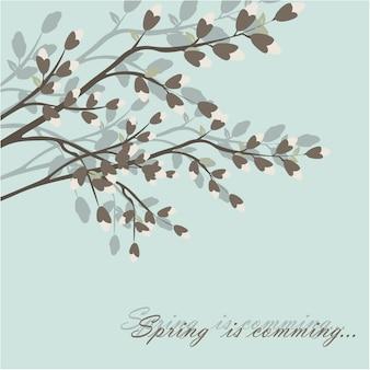 Eenvoudige lentebloemen blackground