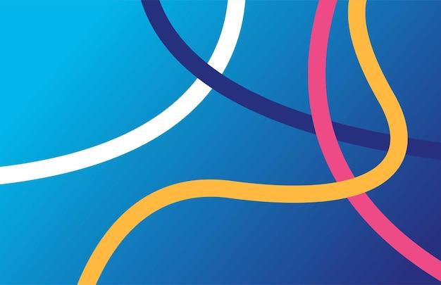 Eenvoudige lijnen vorm geïsoleerde blauwe achtergrond met kleurovergang