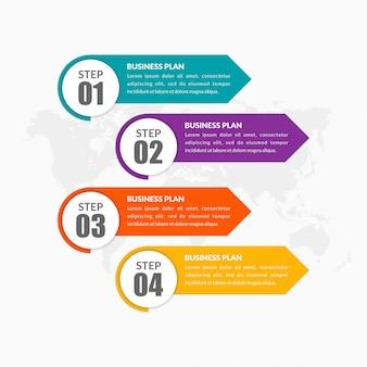 Eenvoudige lijst infographic element