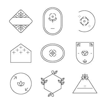 Eenvoudige logo-set