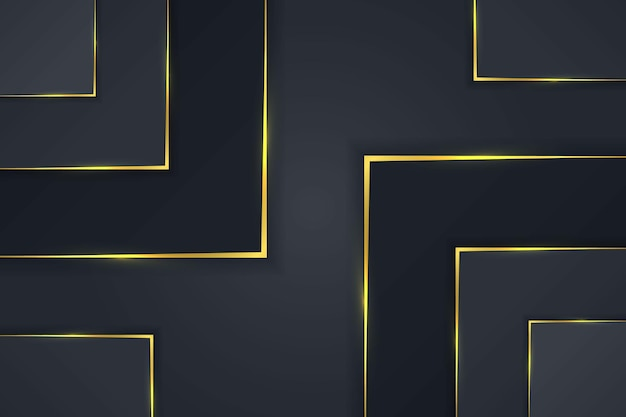 Eenvoudige luxe rechthoek als achtergrond met donker gouden gradiënt vectorontwerp