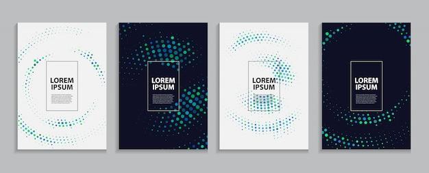 Eenvoudige minimale coversjabloon. toekomstig geometrisch patroon. illustratie