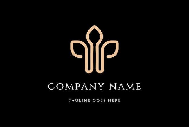 Eenvoudige minimalistische eerste letter w leaf voor wellness logo design vector