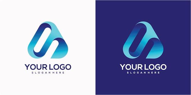 Eenvoudige minimalistische letter een logo