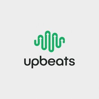 Eenvoudige modernbeat logo ontwerp vector