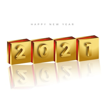 Eenvoudige moderne 2021 gelukkig nieuwjaar achtergrond