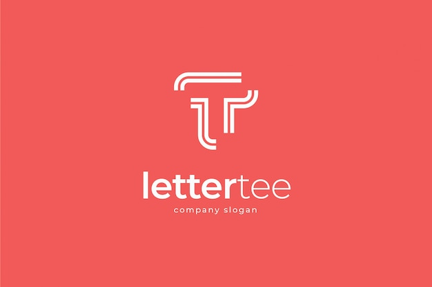 Eenvoudige moderne abstracte letter t logo sjabloon