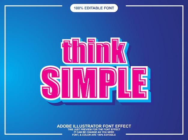 Eenvoudige moderne bewerkbare teksteffect grafische stijl