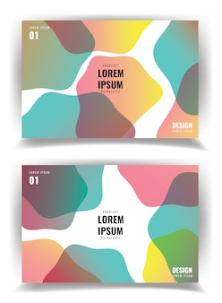 Eenvoudige moderne covers sjabloonontwerp