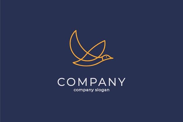 Eenvoudige moderne eend logo vector pictogrammalplaatje