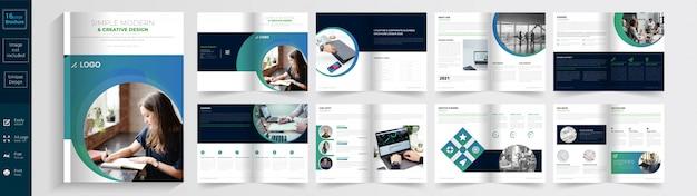 Eenvoudige moderne en creatieve brochure.