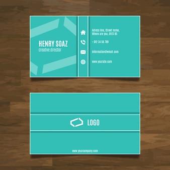 Eenvoudige moderne visitekaartje ontwerp