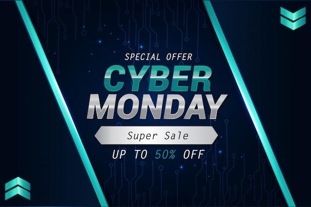 Eenvoudige mondern voor cyber maandag verkoop achtergrond