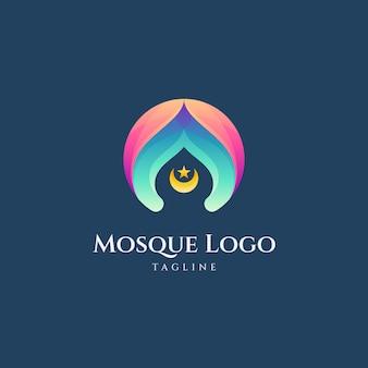 Eenvoudige moskee gradiënt logo vector