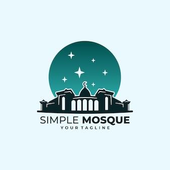 Eenvoudige moskee-logo klassieke stijl