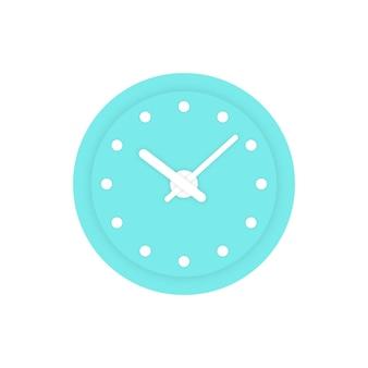 Eenvoudige munt klokpictogram. concept van alert, meting, nauwkeurigheid, precisie, optimalisatie, controle, mechanisme. geïsoleerd op een witte achtergrond. vlakke stijl trend moderne logo ontwerp vectorillustratie